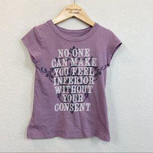 Peek Eleanor Roosevelt Purple Quote Tee 4-5